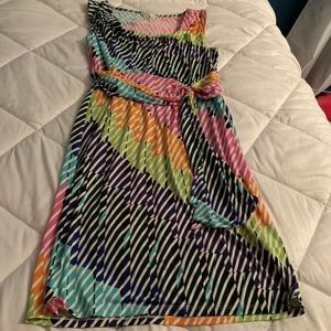 Gorgeous casual/work dress multi color size 12